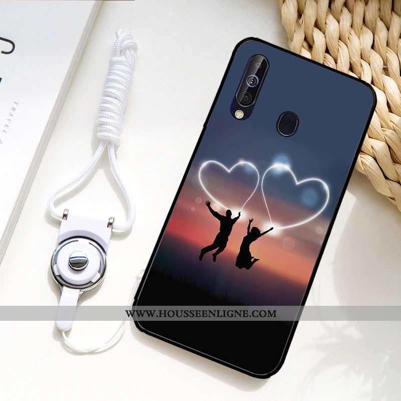 Coque Samsung Galaxy A60 Fluide Doux Protection Couleur Incassable Peinture Téléphone Portable Étui