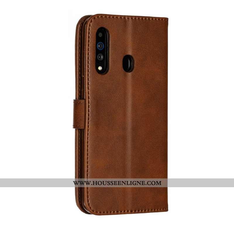 Coque Samsung Galaxy A60 Fluide Doux Silicone Protection Tout Compris Clamshell Étui Téléphone Porta