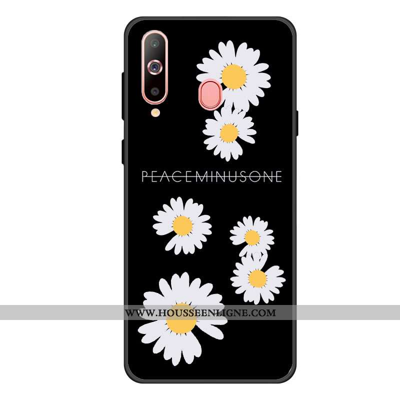 Coque Samsung Galaxy A60 Protection Étui Téléphone Portable Personnalisé Étoile Dragon Noir