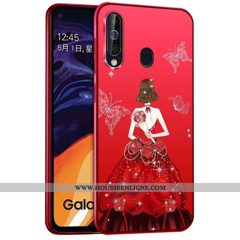 Coque Samsung Galaxy A60 Protection Mode Difficile Plastique Étui Étoile Rouge