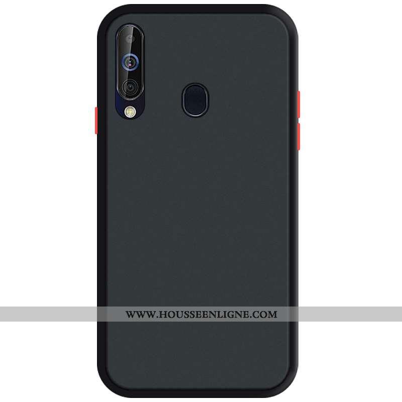 Coque Samsung Galaxy A60 Silicone Protection Noir Téléphone Portable Transparent Étoile Nouveau