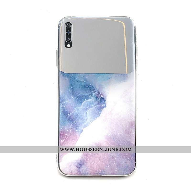 Coque Samsung Galaxy A70 Personnalité Créatif Difficile Nouveau Blanc Étoile Protection Blanche