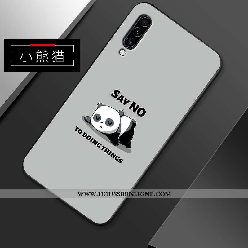Coque Samsung Galaxy A70s Délavé En Daim Dessin Animé Gris Légère Téléphone Portable Net Rouge