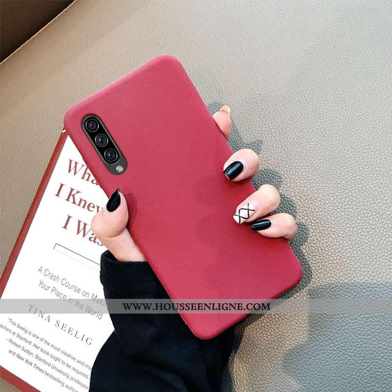 Coque Samsung Galaxy A70s Fluide Doux Silicone Incassable Légère Simple Tout Compris Délavé En Daim