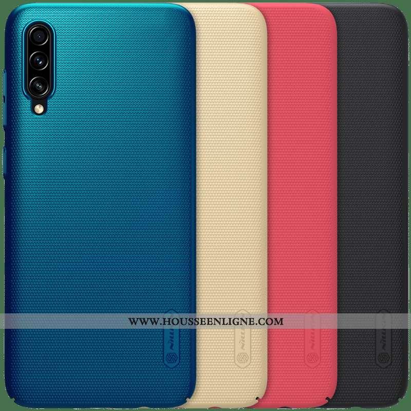 Coque Samsung Galaxy A70s Légère Protection Délavé En Daim Bleu Or Incassable Légères