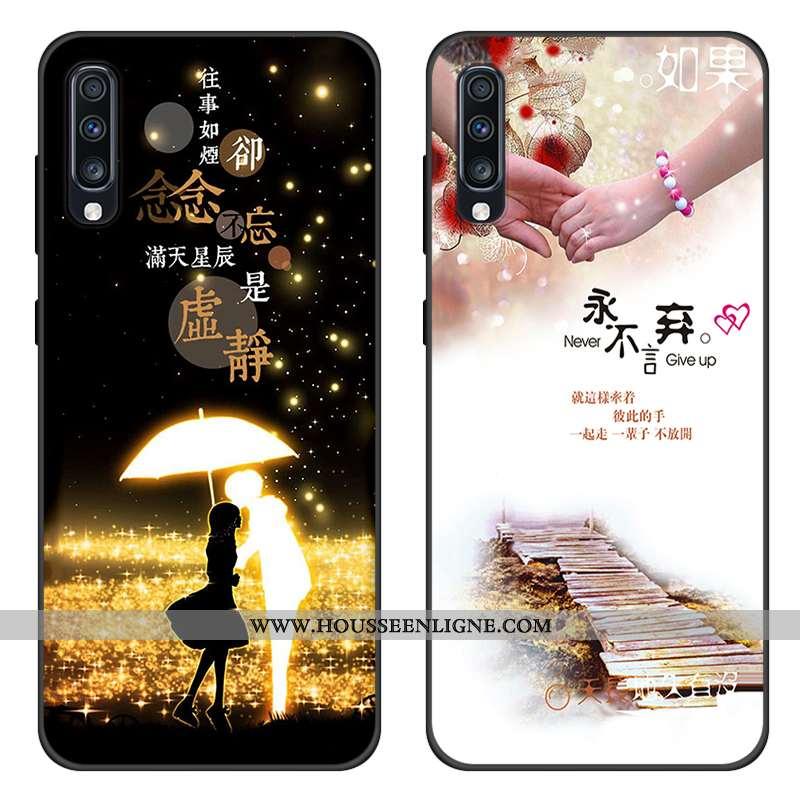 Coque Samsung Galaxy A70s Protection Silicone Noir Tout Compris Téléphone Portable Étui
