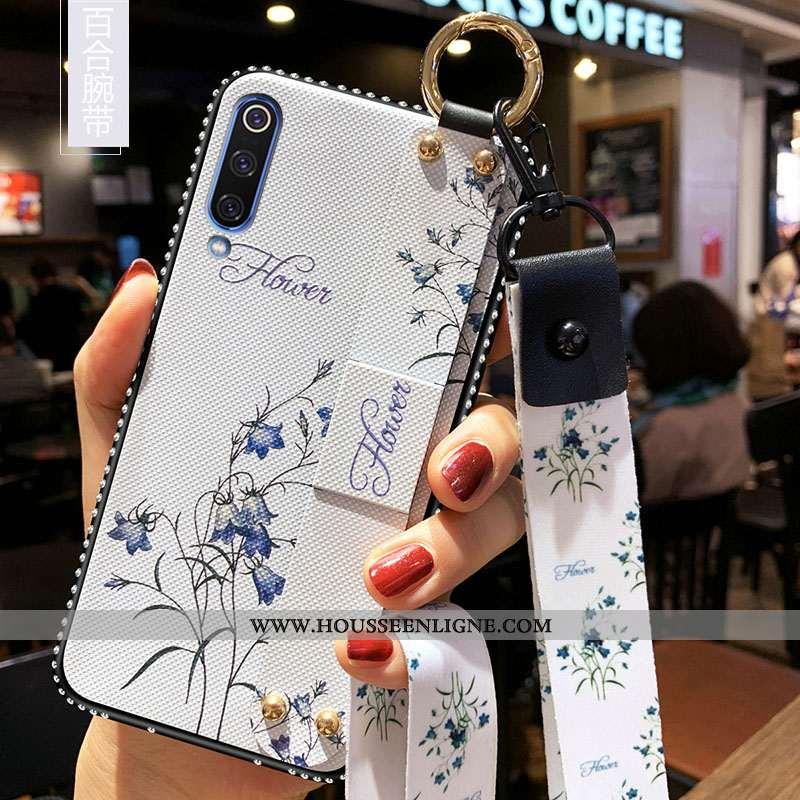 Coque Samsung Galaxy A70s Tendance Fluide Doux Silicone Tout Compris Étoile Petit Délavé En Daim Bla