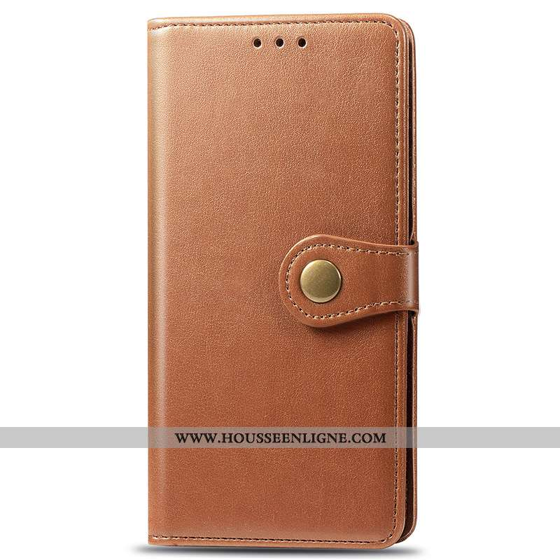 Coque Samsung Galaxy A71 Cuir Carte Téléphone Portable Étoile Clamshell Kaki Khaki