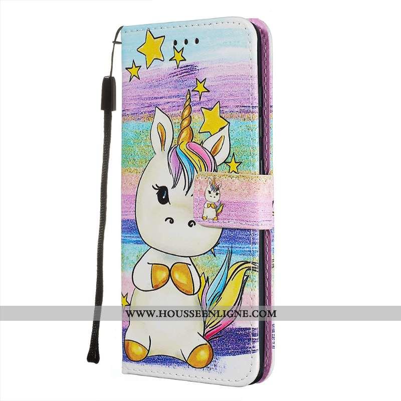 Coque Samsung Galaxy A71 Cuir Fluide Doux Étoile Carte Étui Personnalité Rose