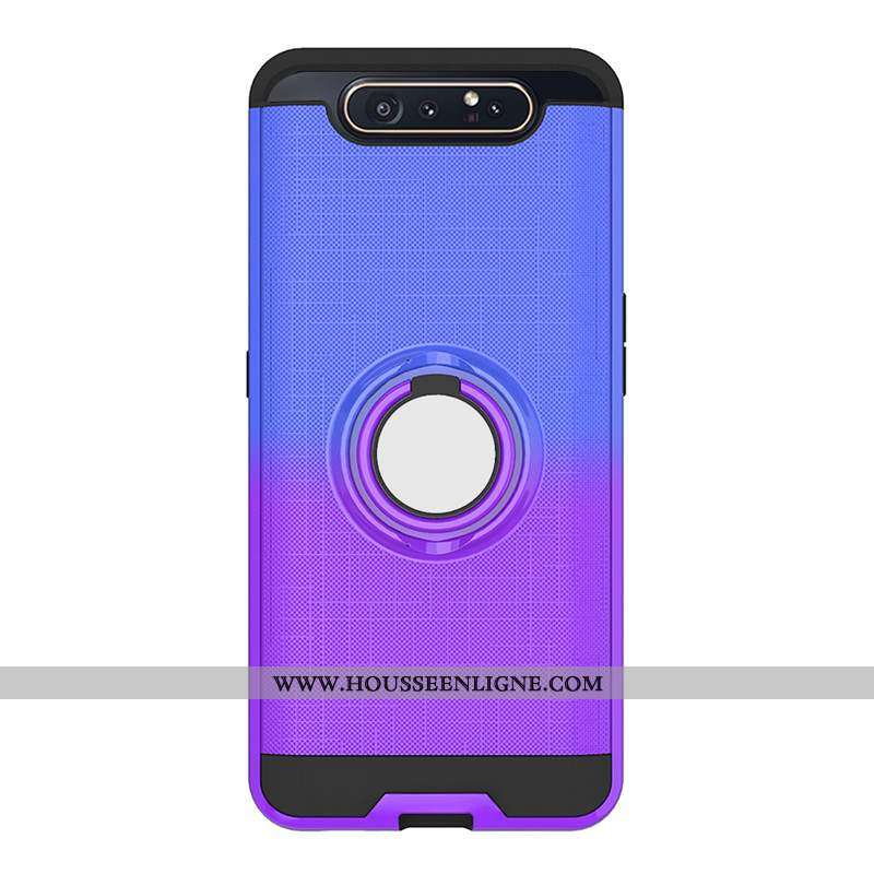 Coque Samsung Galaxy A80 Fluide Doux Protection Tout Compris Étoile Téléphone Portable Violet Étui