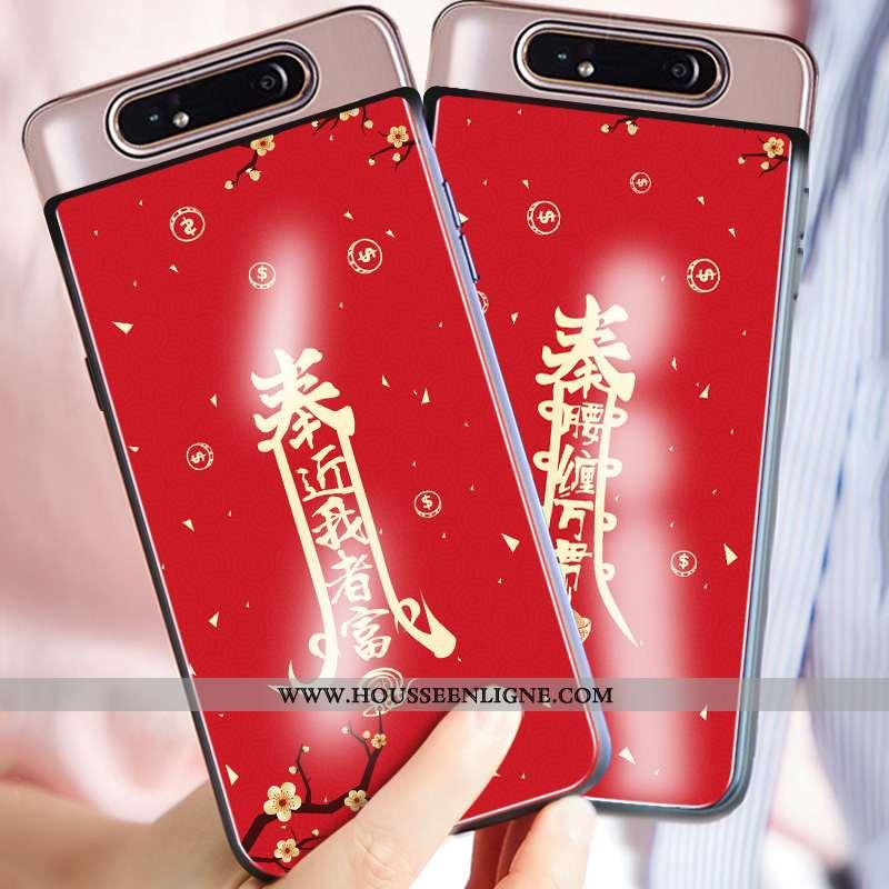 Coque Samsung Galaxy A80 Personnalité Créatif Silicone Étui Téléphone Portable Tout Compris Protecti