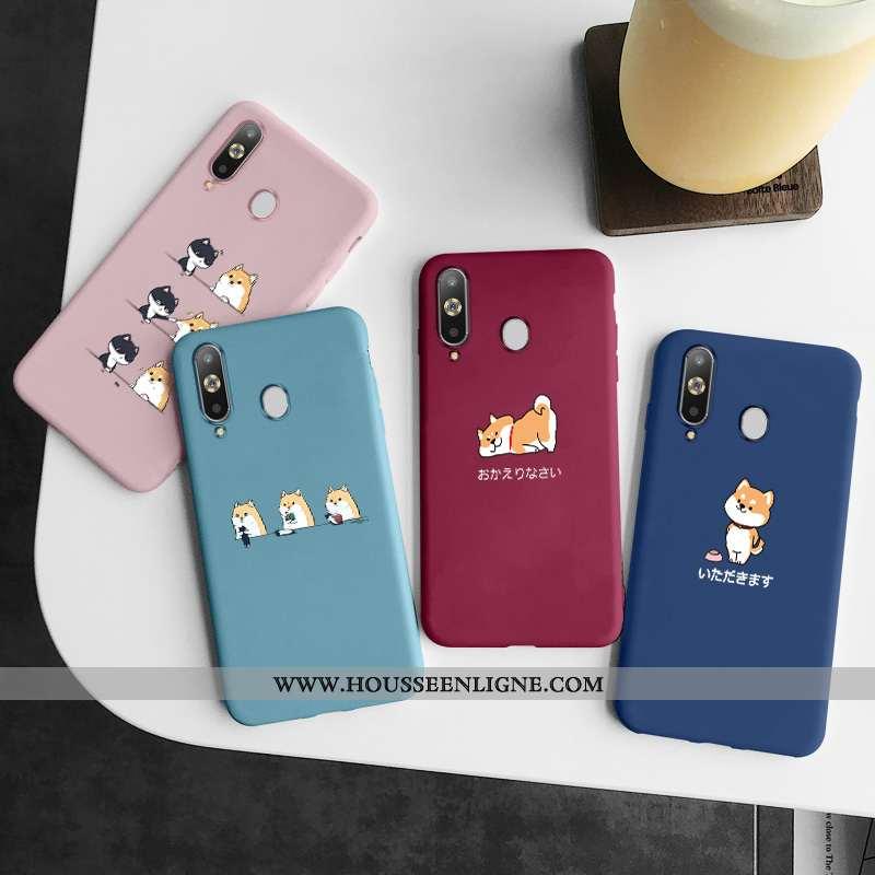 Coque Samsung Galaxy A8s Fluide Doux Silicone Charmant Créatif Incassable Tout Compris Étui Bleu