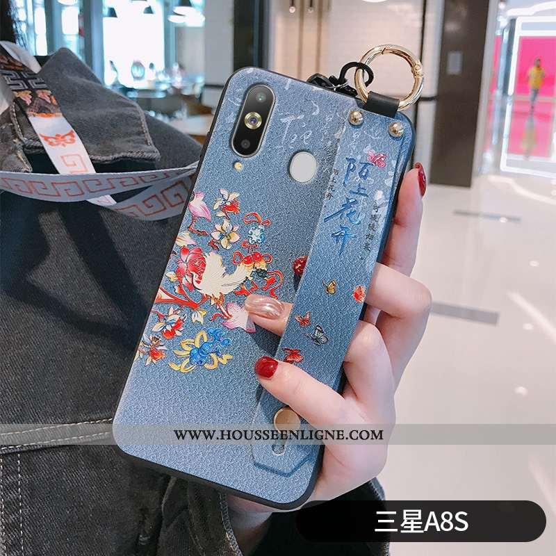 Coque Samsung Galaxy A8s Silicone Protection Téléphone Portable Fleur Fluide Doux Ornements Suspendu