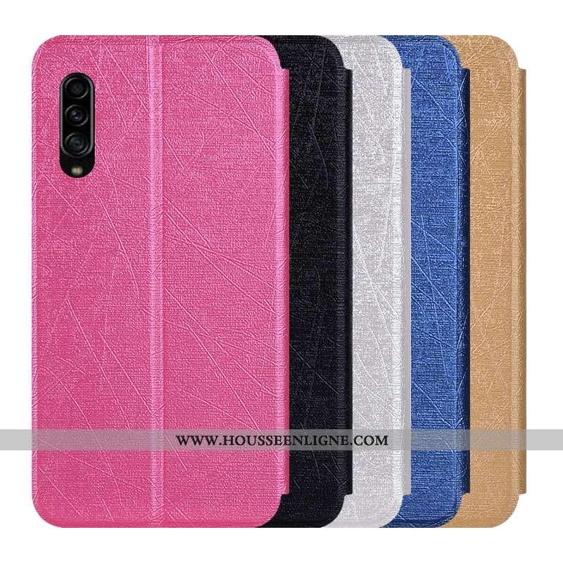 Coque Samsung Galaxy A90 5g Protection Cuir Incassable Étui Étoile Fluide Doux Rose