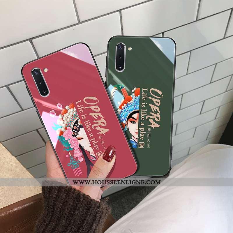 Coque Samsung Galaxy Note 10 Créatif Tendance Vent Net Rouge Drame Fluide Doux Personnalité