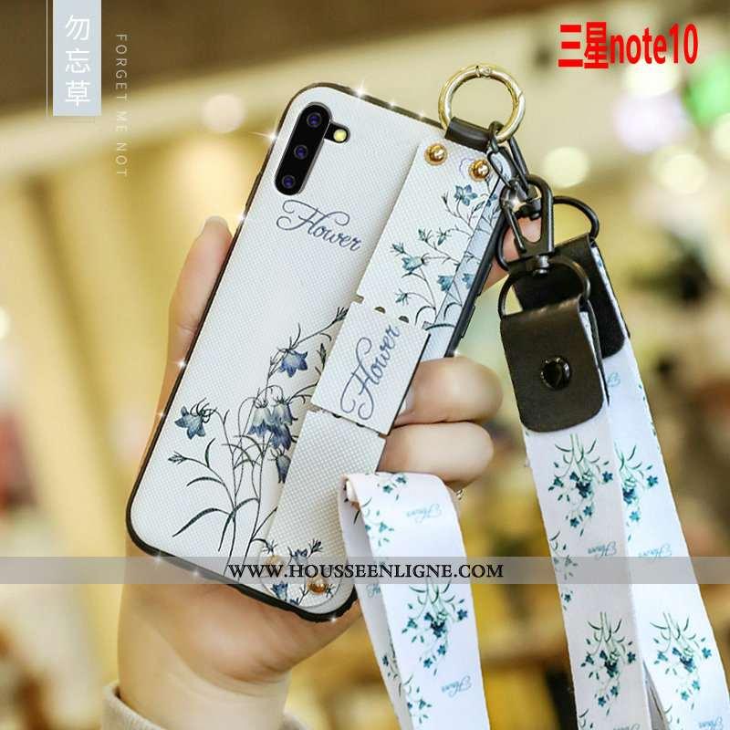Coque Samsung Galaxy Note 10 Fluide Doux Silicone Protection Légère Personnalité Téléphone Portable