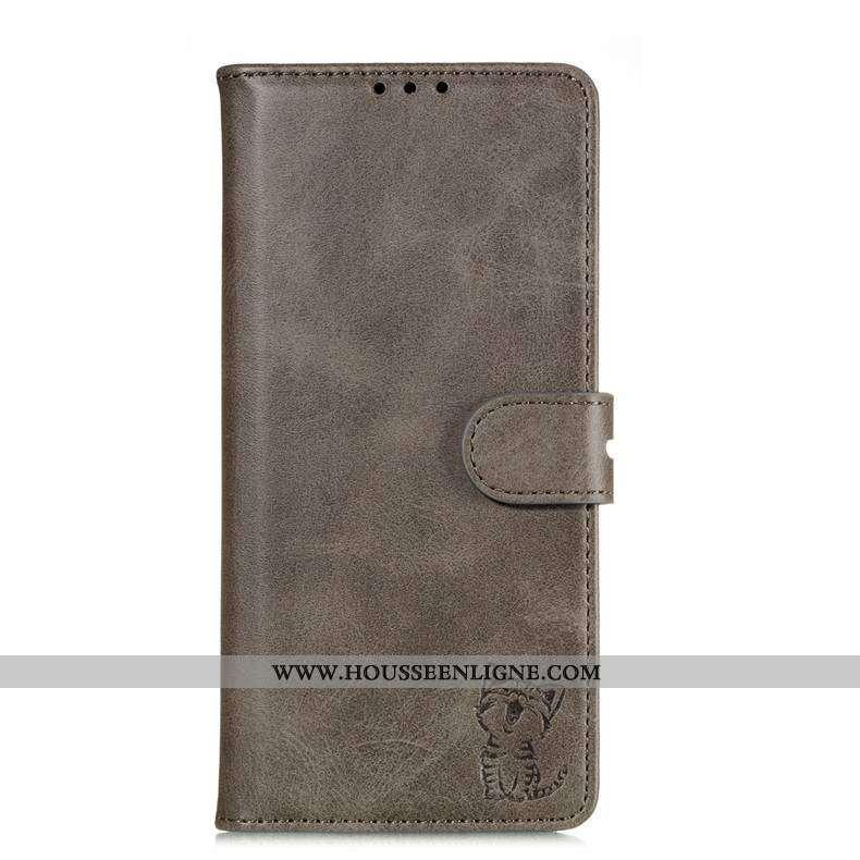 Coque Samsung Galaxy Note 10 Lite Dessin Animé Cuir Étoile Housse Tout Compris Étui Incassable Gris