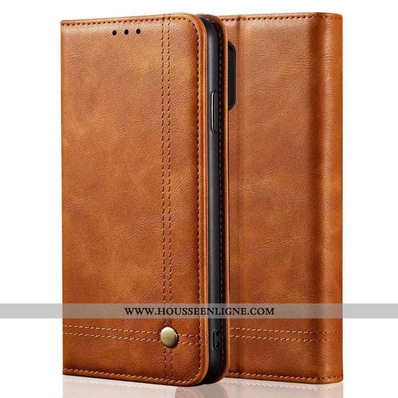 Coque Samsung Galaxy Note 10 Lite Fluide Doux Protection Téléphone Portable Cuir Véritable Étui Étoi