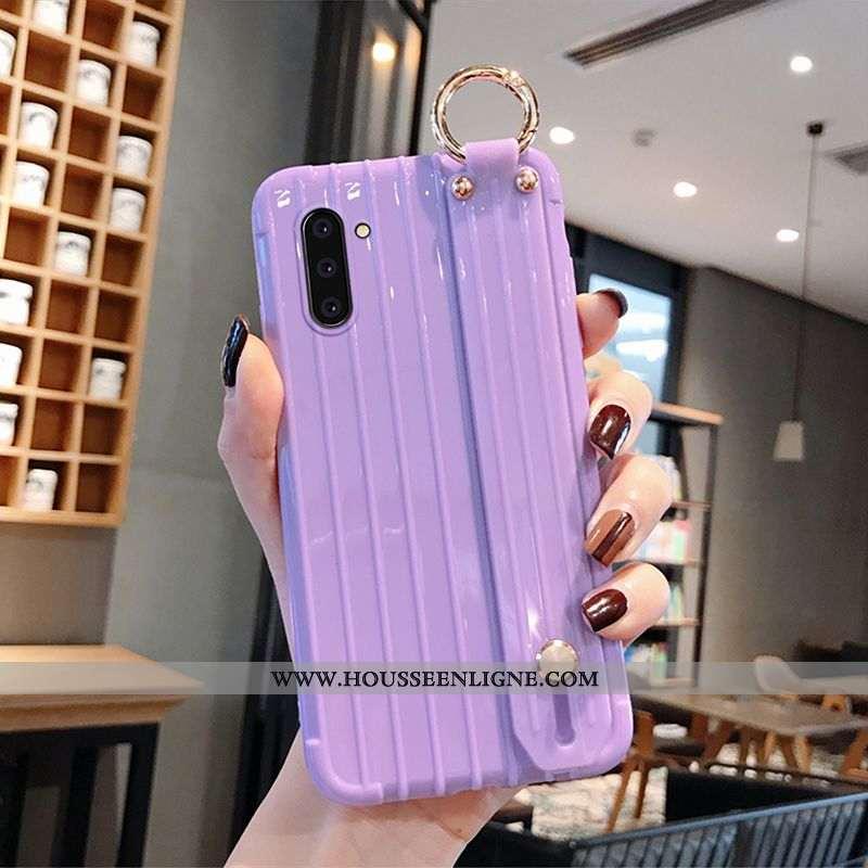 Coque Samsung Galaxy Note 10 Personnalité Créatif Étoile Tout Compris Incassable Étui Violet