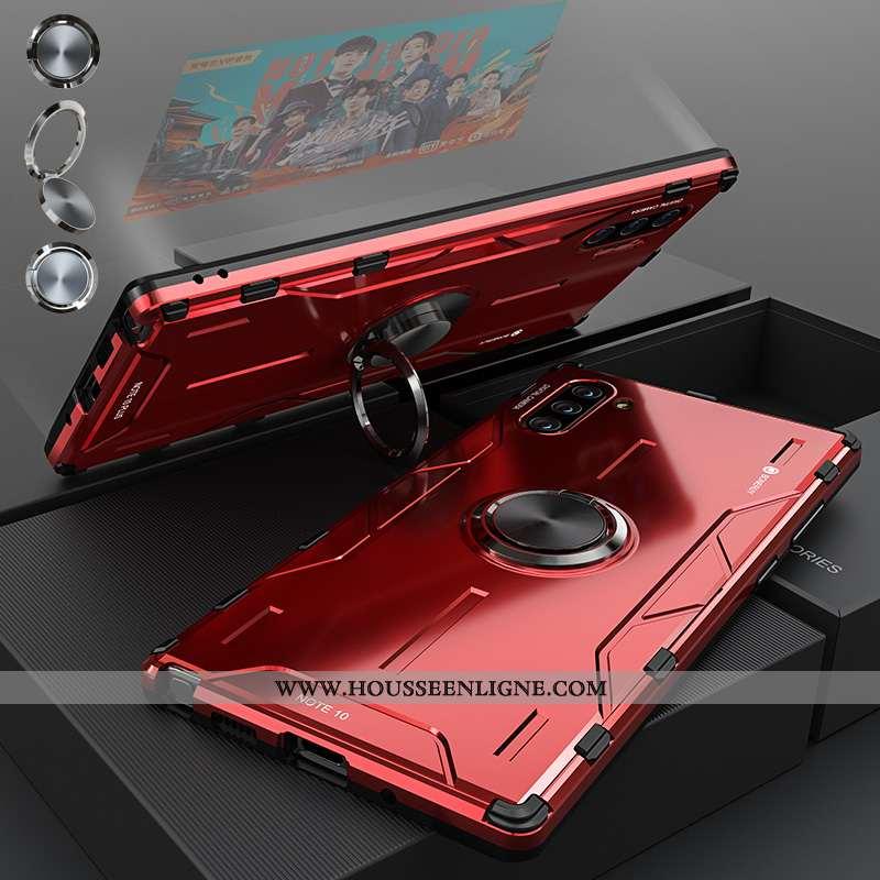 Coque Samsung Galaxy Note 10 Protection Métal Téléphone Portable Étoile Silicone Incassable Rouge