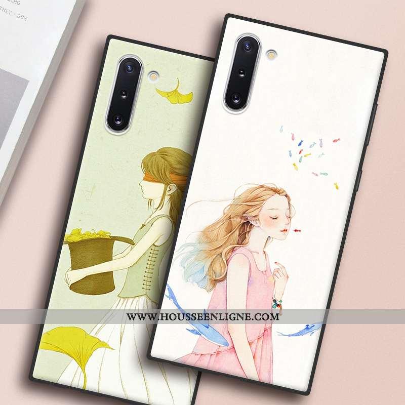Coque Samsung Galaxy Note 10 Protection Téléphone Portable Art Blanc Étoile Étui Blanche