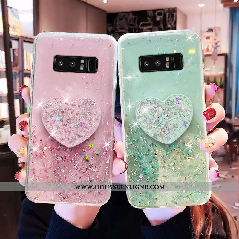 Coque Samsung Galaxy Note 8 Personnalité Créatif Amoureux Frais Téléphone Portable Fluide Doux Verte