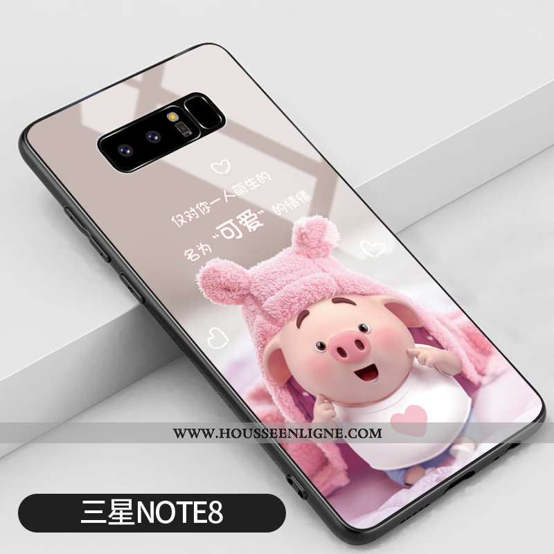 Coque Samsung Galaxy Note 8 Personnalité Créatif Rose Petit Silicone Étui Téléphone Portable