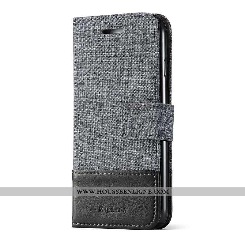 Coque Samsung Galaxy Note 8 Personnalité Cuir Étoile Étui Incassable Protection Gris