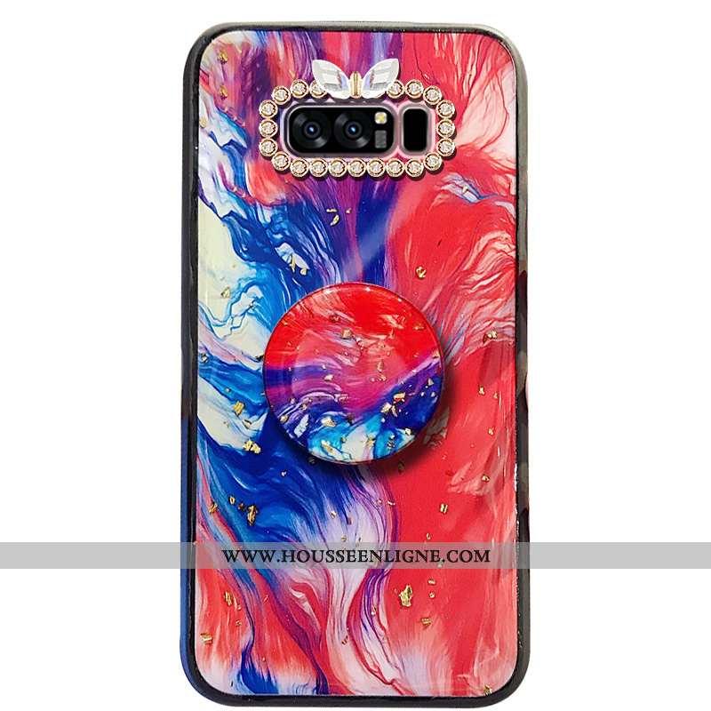 Coque Samsung Galaxy Note 8 Protection Fluide Doux Étoile Téléphone Portable Tout Compris Support Ét
