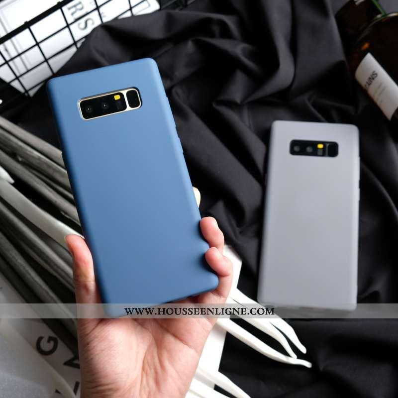 Coque Samsung Galaxy Note 8 Protection Personnalité Étui Bleu Fluide Doux Incassable