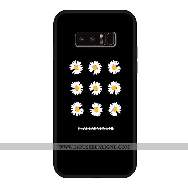 Coque Samsung Galaxy Note 8 Silicone Délavé En Daim Téléphone Portable Personnalité Noir Incassable