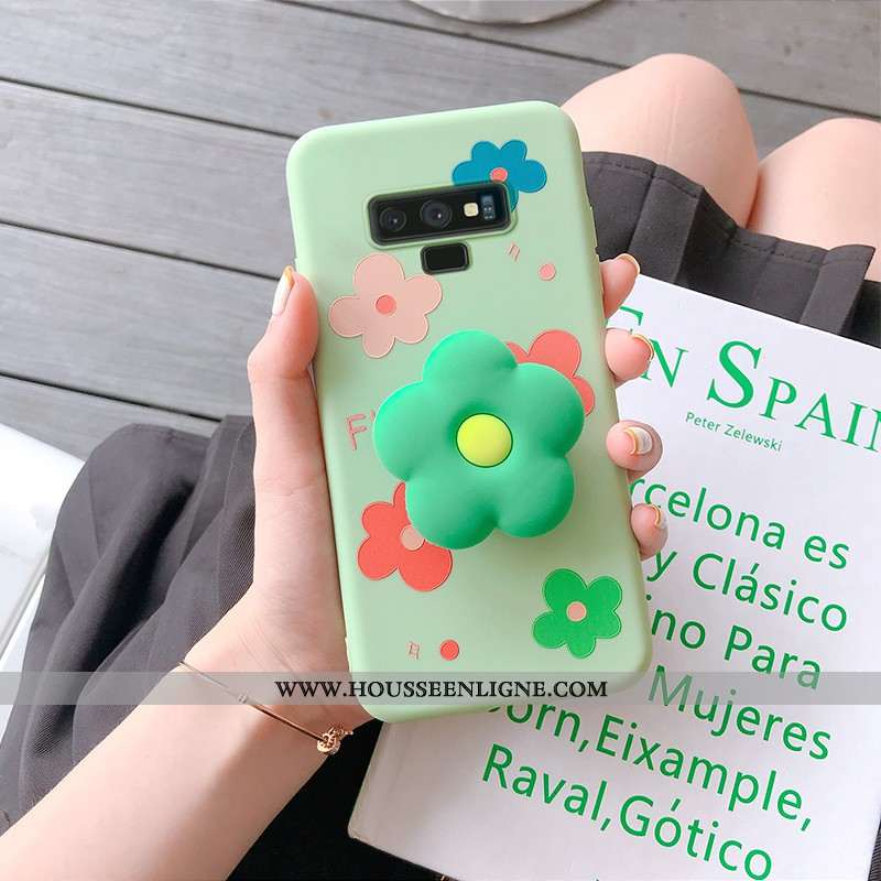 Coque Samsung Galaxy Note 9 Personnalité Dessin Animé Silicone Étui Étoile Vert Verte
