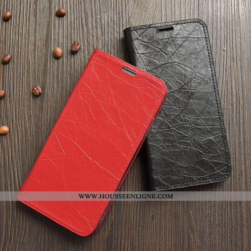 Coque Samsung Galaxy Note 9 Protection Cuir Simple Téléphone Portable Housse Étui Rouge