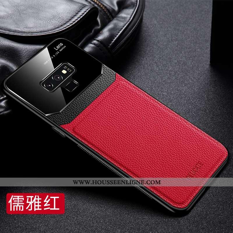 Coque Samsung Galaxy Note 9 Ultra Légère Protection Tempérer Téléphone Portable Délavé En Daim Net R