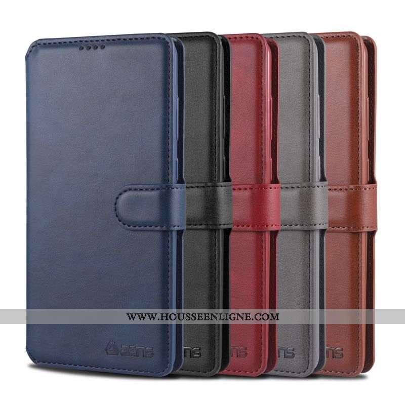 Coque Samsung Galaxy Note20 Fluide Doux Protection Boucle Magnétique Carte Nouveau Téléphone Portabl