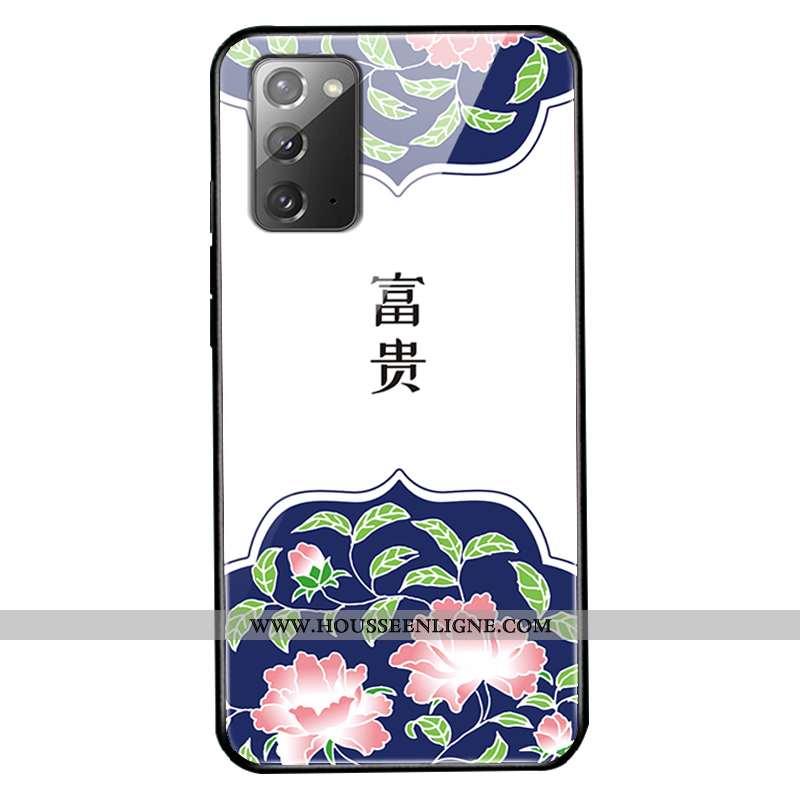 Coque Samsung Galaxy Note20 Fluide Doux Protection Personnalisé Tendance Tout Compris Verre Téléphon