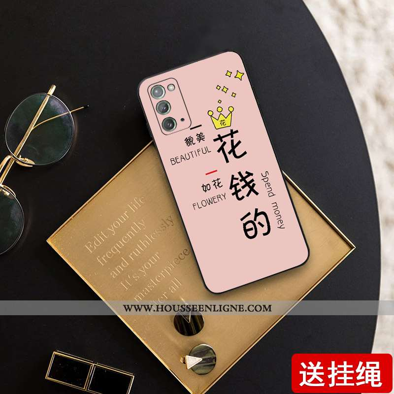 Coque Samsung Galaxy Note20 Fluide Doux Silicone Téléphone Portable Étui Tout Compris Légère Tendanc