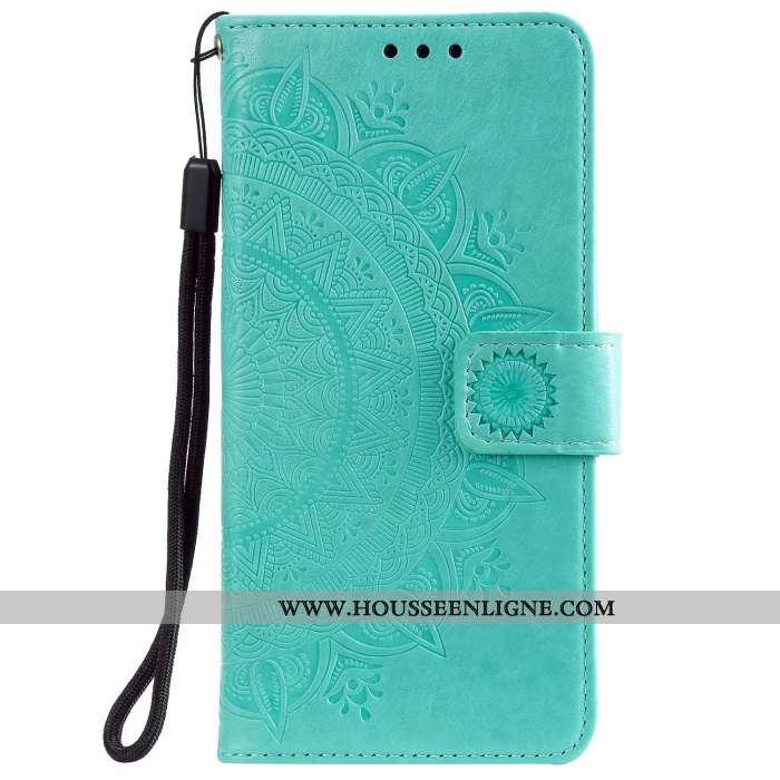 Coque Samsung Galaxy Note20 Protection Cuir Étoile Étui Vert Carte Verte