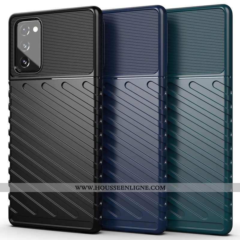 Coque Samsung Galaxy Note20 Silicone Étoile Noir Incassable Téléphone Portable
