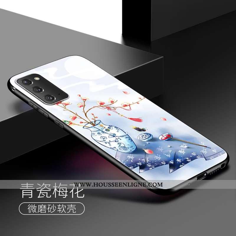 Coque Samsung Galaxy Note20 Silicone Vent Téléphone Portable Étui Incassable Bleu