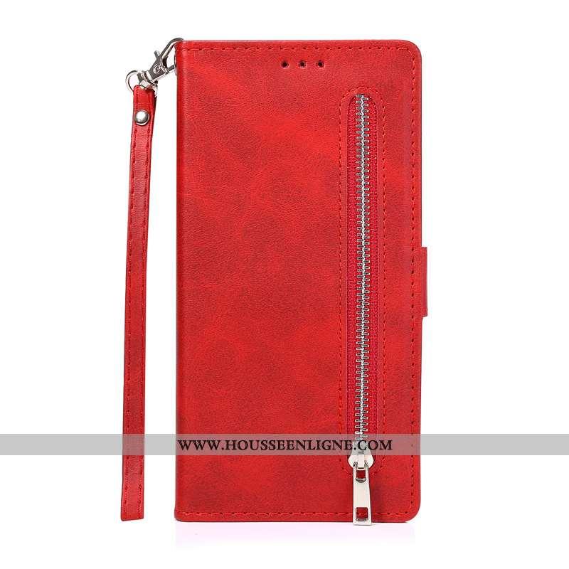 Coque Samsung Galaxy Note20 Ultra Cuir Étoile Téléphone Portable Étui Rouge