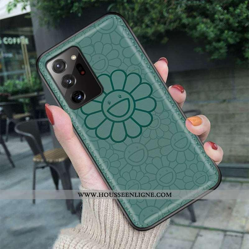 Coque Samsung Galaxy Note20 Ultra Dessin Animé Tendance Simple Vert Net Rouge Amoureux Verte