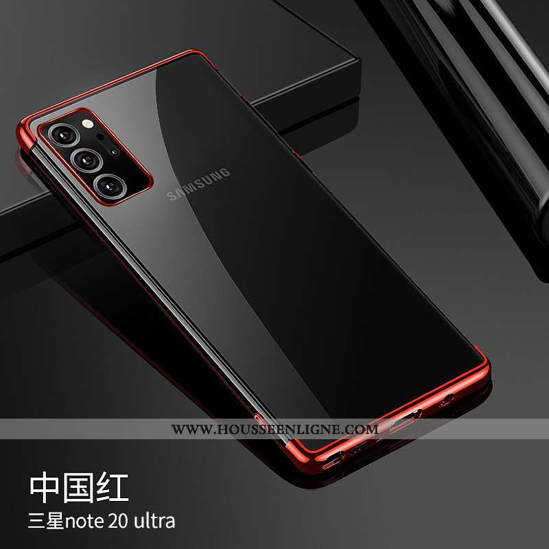 Coque Samsung Galaxy Note20 Ultra Luxe Ultra Rouge Silicone Incassable Tout Compris Téléphone Portab
