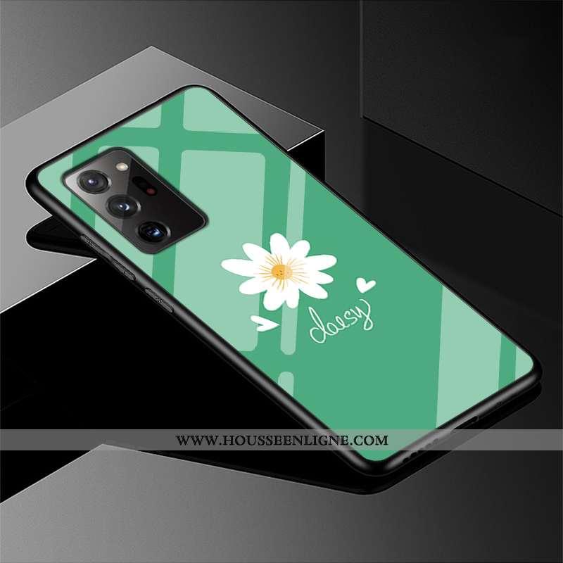 Coque Samsung Galaxy Note20 Ultra Protection Verre Vert Étoile Étui Téléphone Portable Verte