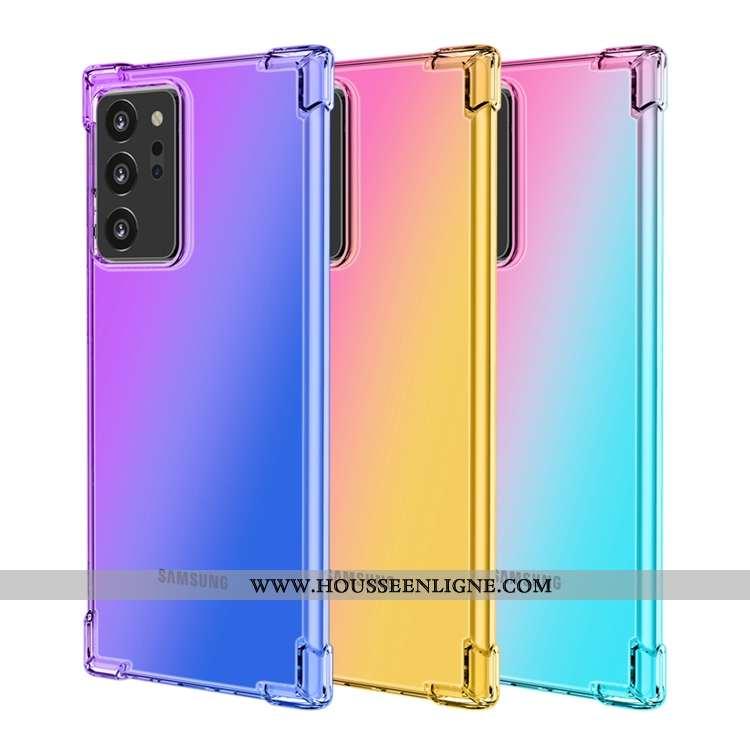 Coque Samsung Galaxy Note20 Ultra Tout Compris Étoile Violet Ballon Incassable Téléphone Portable