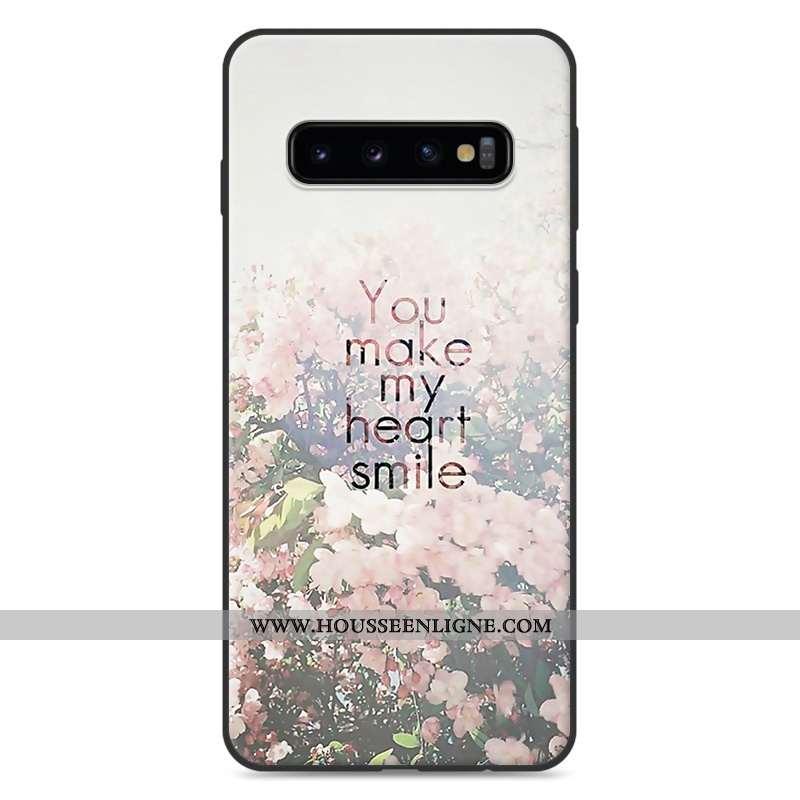 Coque Samsung Galaxy S10 Dessin Animé Charmant Silicone Étui Téléphone Portable Étoile Protection Bl