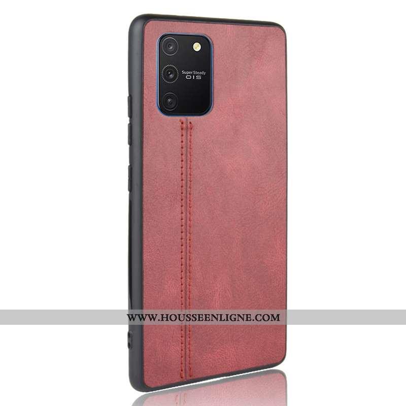 Coque Samsung Galaxy S10 Lite Protection Modèle Fleurie Étoile Difficile Bovins Rouge