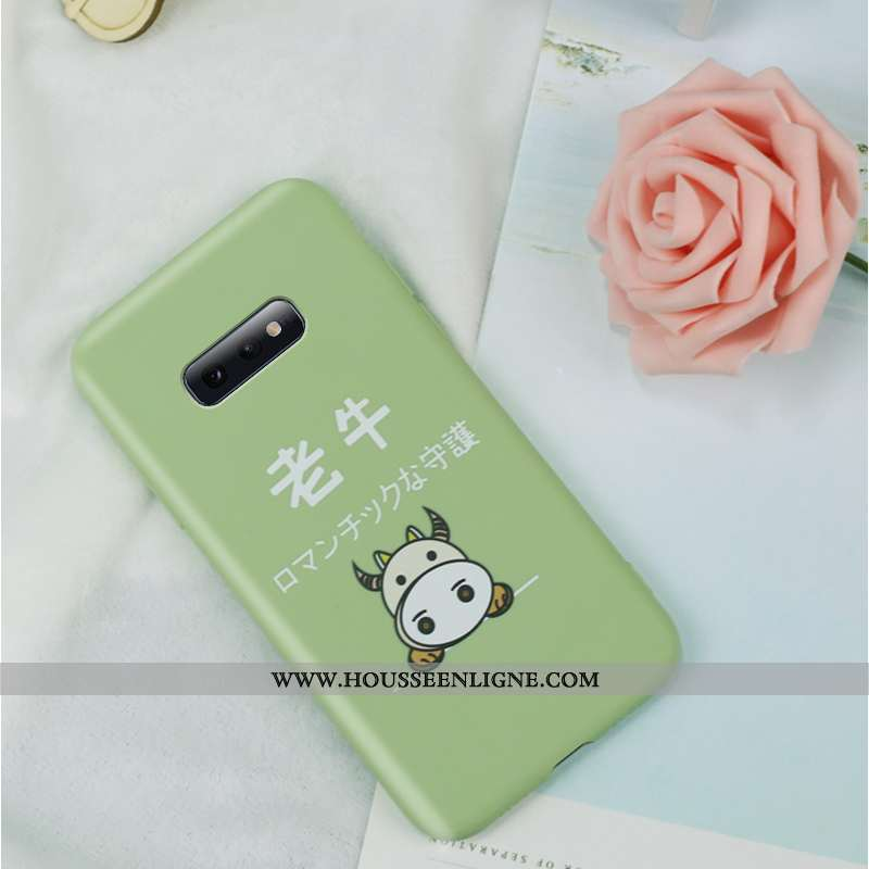 Coque Samsung Galaxy S10e Charmant Ultra Protection Créatif Amoureux Personnalité Incassable Verte
