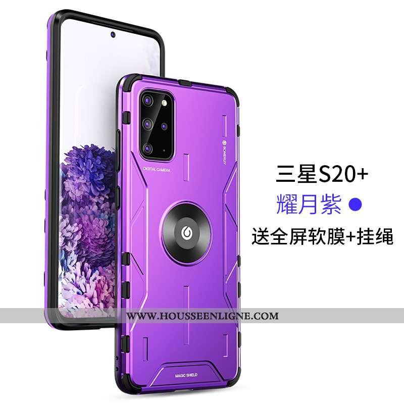Coque Samsung Galaxy S20+ Personnalité Créatif Tout Compris Ultra Étui Protection Ballon Violet