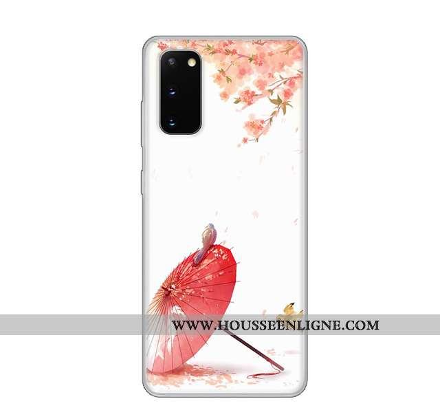 Coque Samsung Galaxy S20 Protection Transparent Vent Personnalisé Étoile Fluide Doux Blanche
